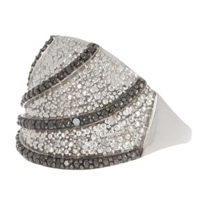 NEW Savvy Cie sterling 2 tone diamond ring